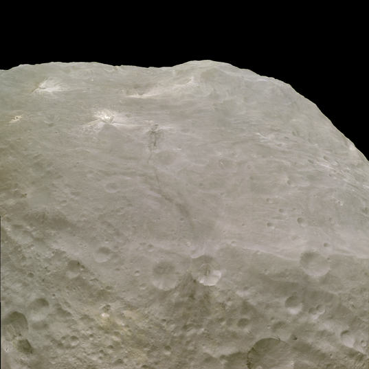 Rheasilvia central peak, Vesta