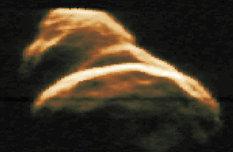 Radar image of asteroid 4179 Toutatis (1992 approach)