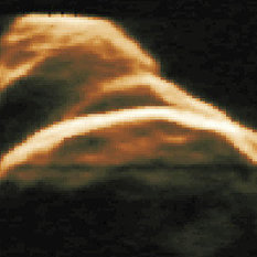 Radar image of asteroid 4179 Toutatis (1992 approach)