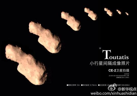 Chang'e-2 Images of Toutatis