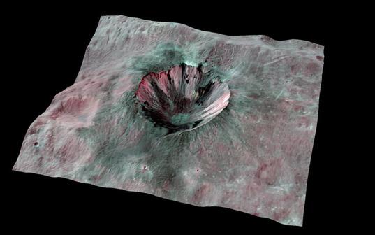 Cornelia Crater in 3D