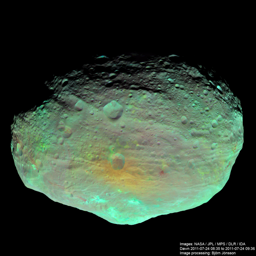 Vesta in enhanced color