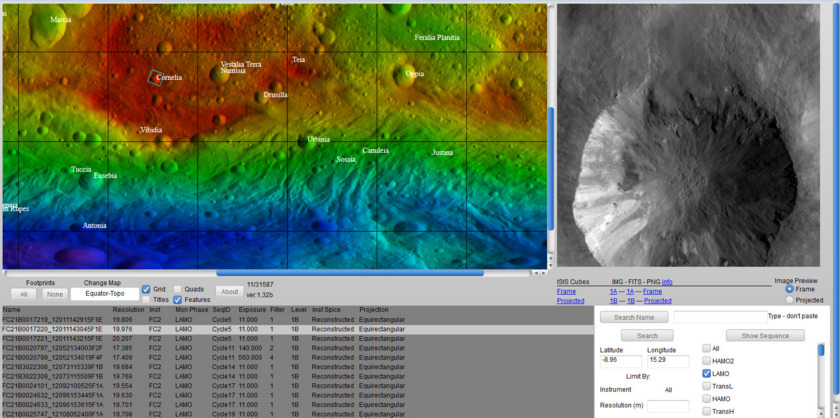 Vesta image browser screen cap