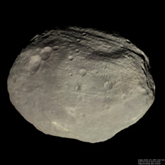 Global view of Vesta in natural color
