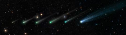 Comet ISON's evolution from September 24 to November 15, 2013