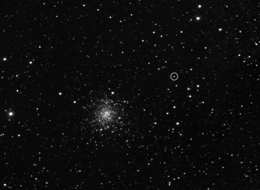 Rosetta's first sight of comet Churyumov-Gerasimenko of final approach phase (narrow-angle detail)