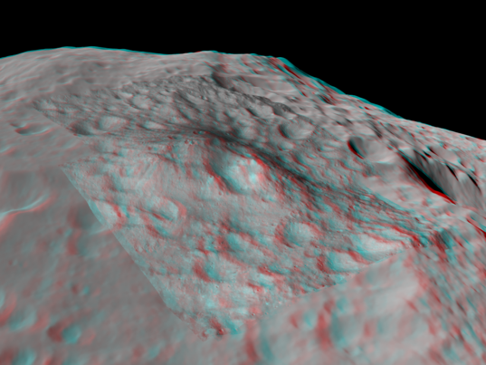 3D view of Aricia Tholus, Vesta