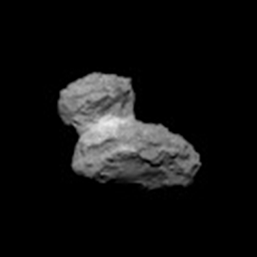 NavCam view of comet Churyumov-Gerasimenko on August 1, 2014