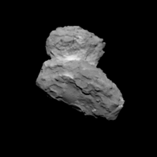 OSIRIS view of comet Churyumov-Gerasimenko on August 1, 2014