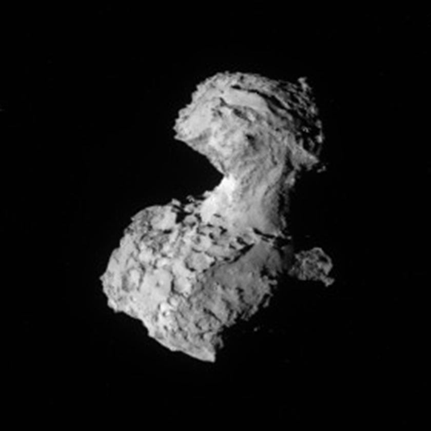 NavCam view of comet Churyumov-Gerasimenko on August 3, 2014
