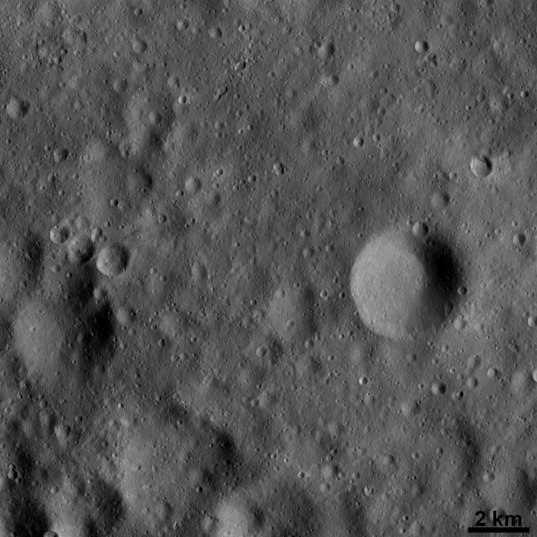 Vesta from only 190 kilometers away