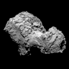 OSIRIS view of comet Churyumov-Gerasimenko on August 3, 2014