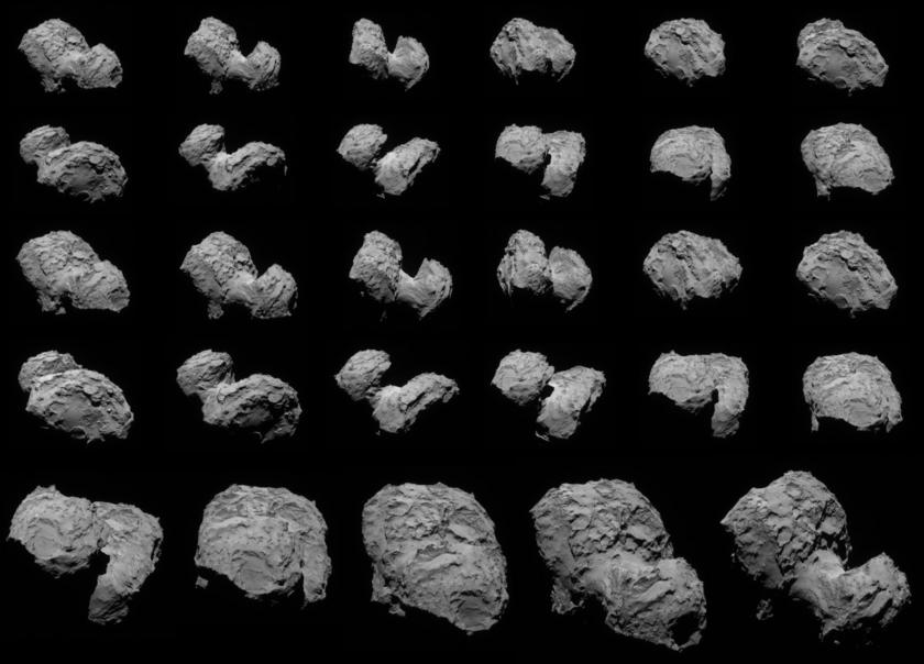 Navcam views of comet Churyumov-Gerasimenko, August 4-6, 2014