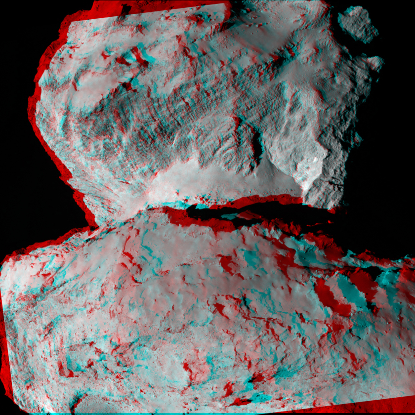 Churyumov-Gerasimenko in 3D, August 7, 2014
