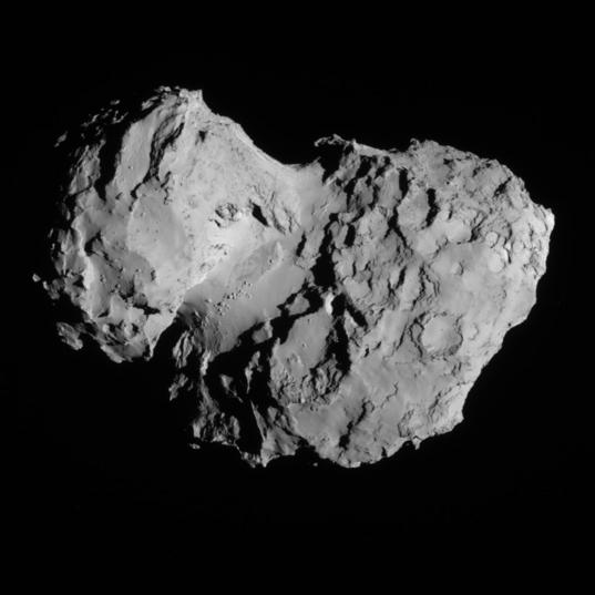 NavCam view of comet 67P, 1st orbit, August 8, 2014