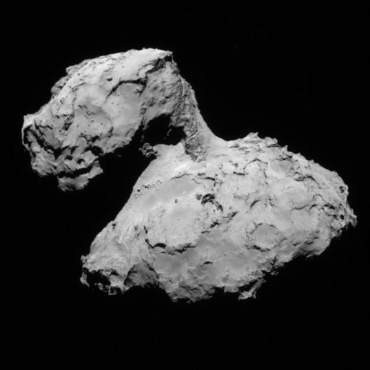 NavCam view of comet 67P, 1st orbit, August 9, 2014
