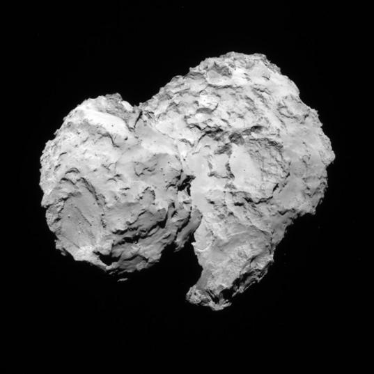 NavCam view of comet 67P, 1st orbit, August 7, 2014