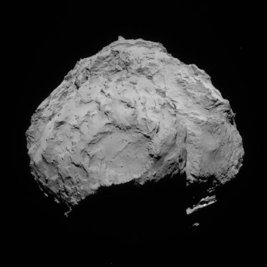 NavCam view of comet 67P, 1st orbit, August 14, 2014