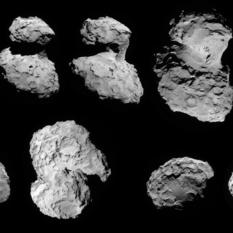 NavCam images of comet Churyumov-Gerasimenko from Rosetta's first orbit