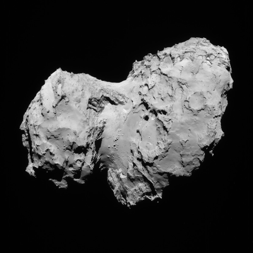 NavCam view of comet 67P, 1st transfer, August 19, 2014