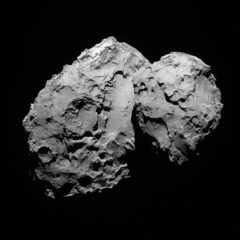 NavCam view of comet 67P, 1st transfer, August 20, 2014