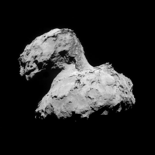 NavCam view of comet Churyumov-Gerasimenko on August 31, 2014