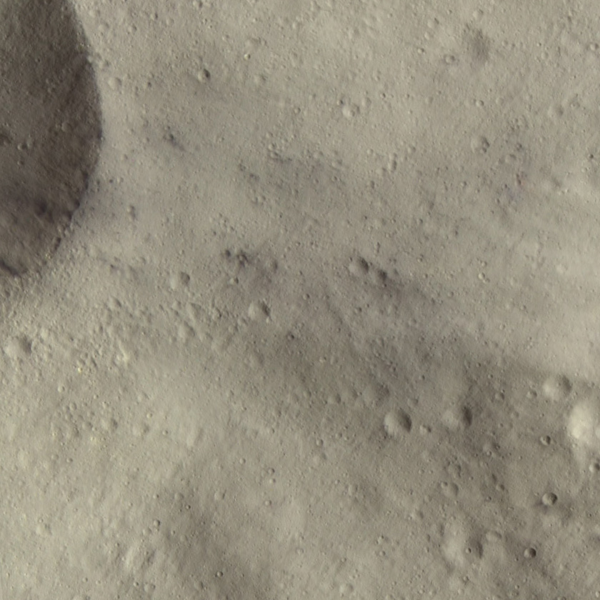 Dark spots on Vesta (detail)