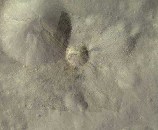 Aelia crater, Vesta