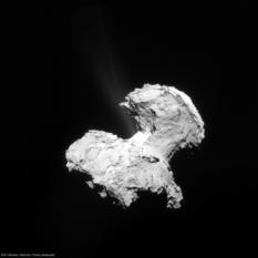Comet jets! NavCam view of comet Churyumov-Gerasimenko on September 2, 2014
