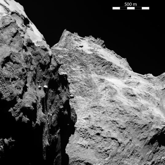 OSIRIS view of comet Churyumov-Gerasimenko on September 5, 2014