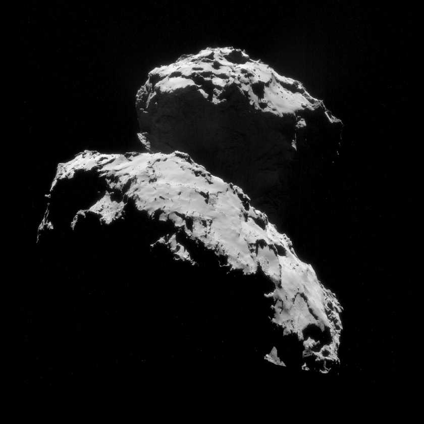 NavCam view of comet Churyumov-Gerasimenko on September 10, 2014