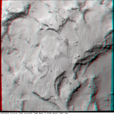 3D view of Philae's selected landing site
