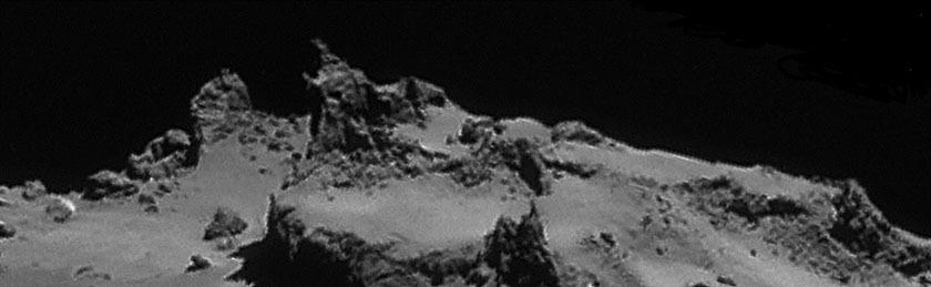 Rosetta NavCam 67P Sep 14, 2014 detail #2