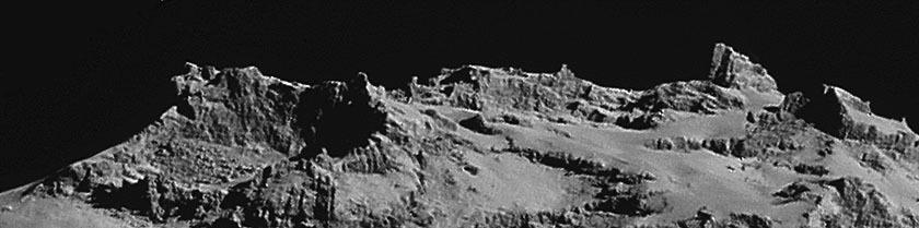 Rosetta NavCam 67P Sep 14, 2014 detail #3