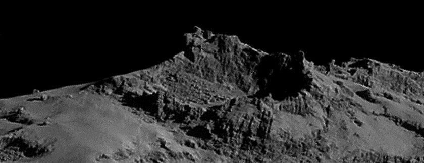 Rosetta NavCam 67P Sep 14, 2014 detail #5