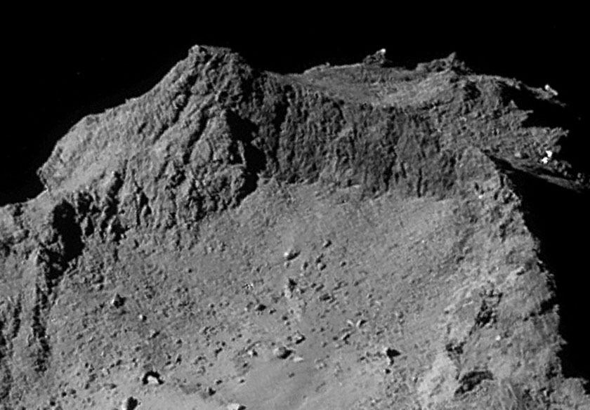 Rosetta NavCam 67P Sep 14, 2014 detail #7