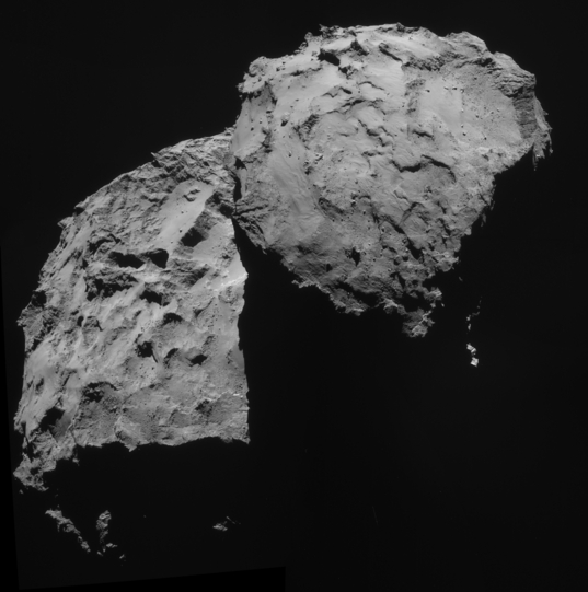 Rosetta view of Comet 67P/Churyumov-Gerasimenko on September 14, 2014