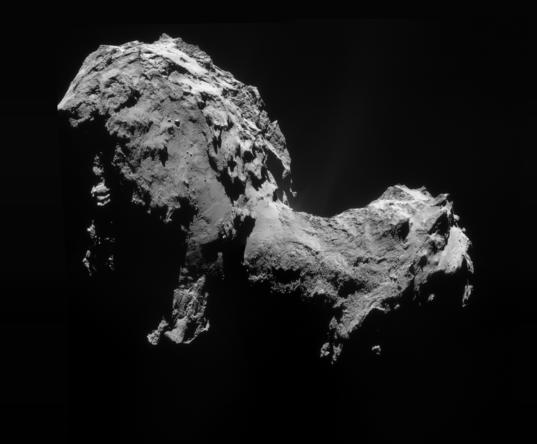 NavCam view of comet Churyumov-Gerasimenko on September 19, 2014