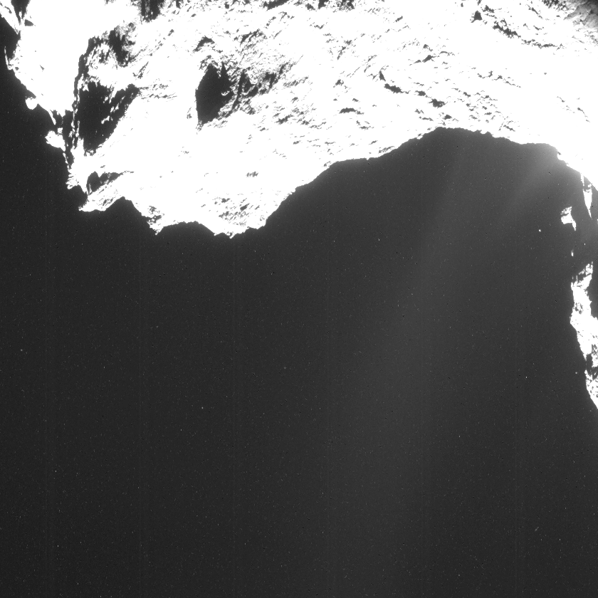Vertical striping in raw ESA Rosetta NavCam images