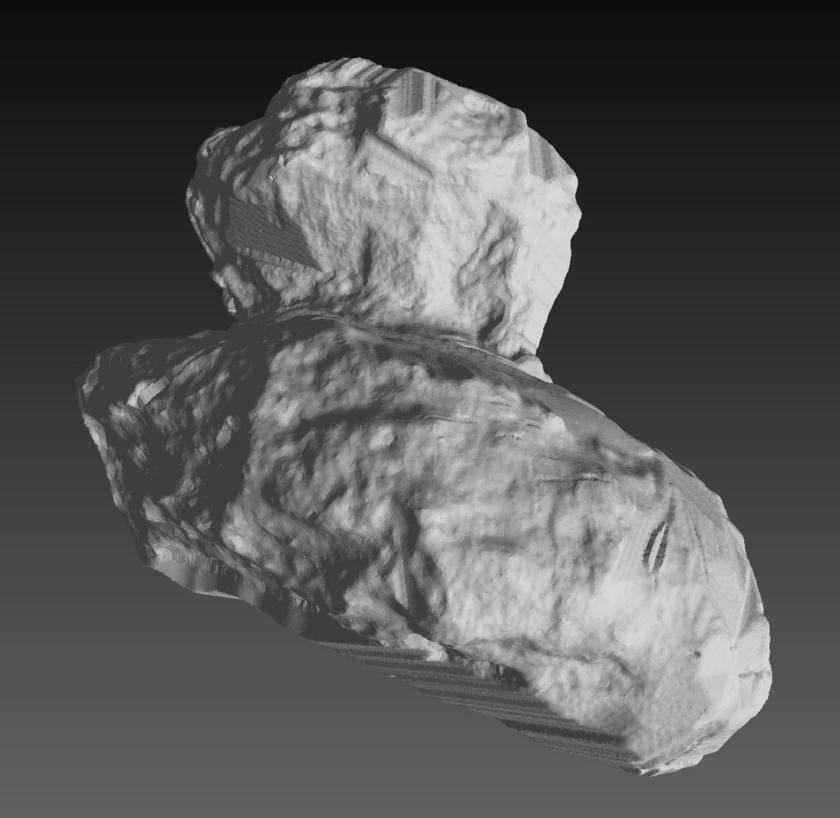 Mattias Malmer's shape model of comet Churyumov-Gerasimenko as of September 30, 2014