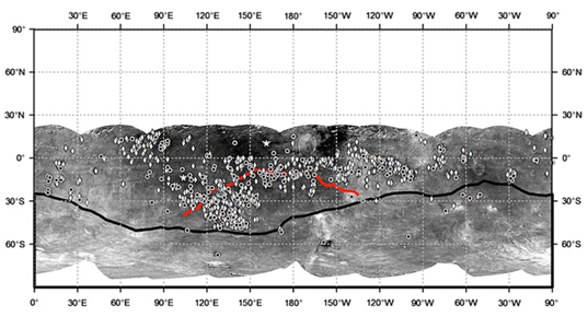 Distribution of dark material on Vesta
