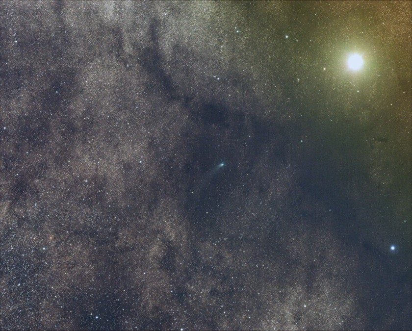Comet Siding Spring and Mars -- from Siding Spring Observatory (James Willinghan)