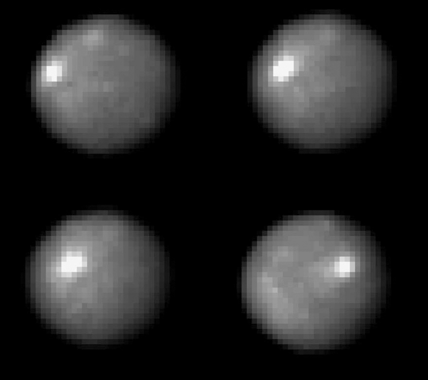 Four views of Ceres from Hubble
