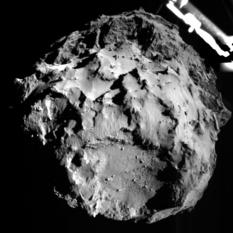 ROLIS' first image of Churyumov-Gerasimenko