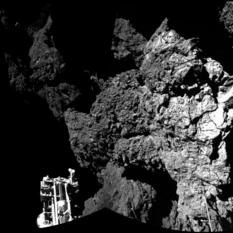 Philae's first ÇIVA panorama from the surface of Churyumov-Gerasimenko