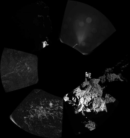 ÇIVA's view around Philae