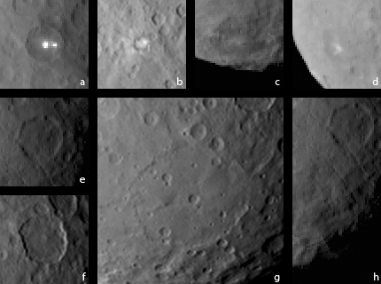 Interesting things in the February 12, 2015 Ceres pictures