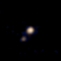 New Horizons' first color view of Pluto and Charon