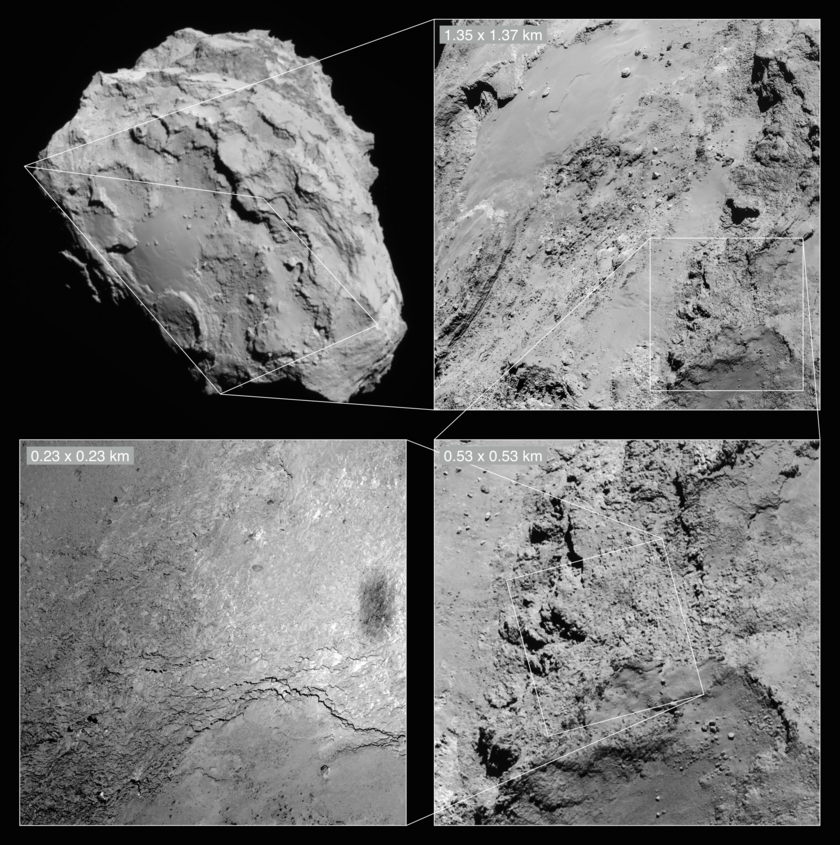 Rosetta sees its shadow: context images