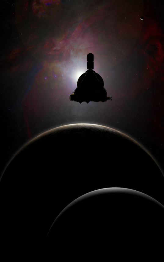 New Horizons Over Pluto